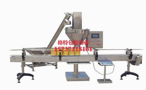 春风粮油食品厂自动定量粉剂包装机生产线